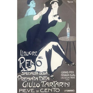 Original Early 20th Century Italian Beverage Advertising Poster-Art by Remo Branca For Sale