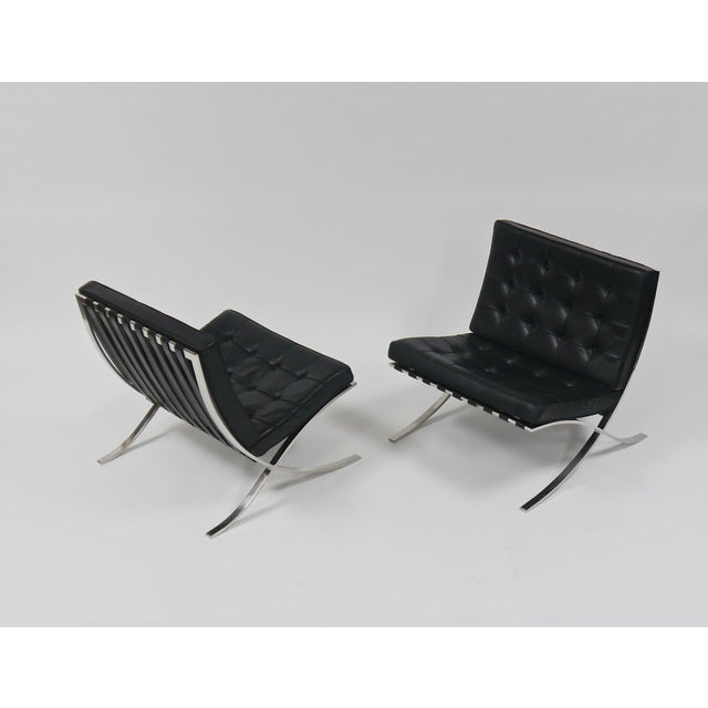 Exceptional Pair of Barcelona Chairs by Mies Van Der Rohe for Knoll For Sale - Image 10 of 10