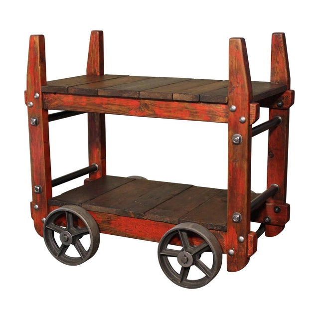 Industrial Bar Cart For Sale - Image 12 of 12