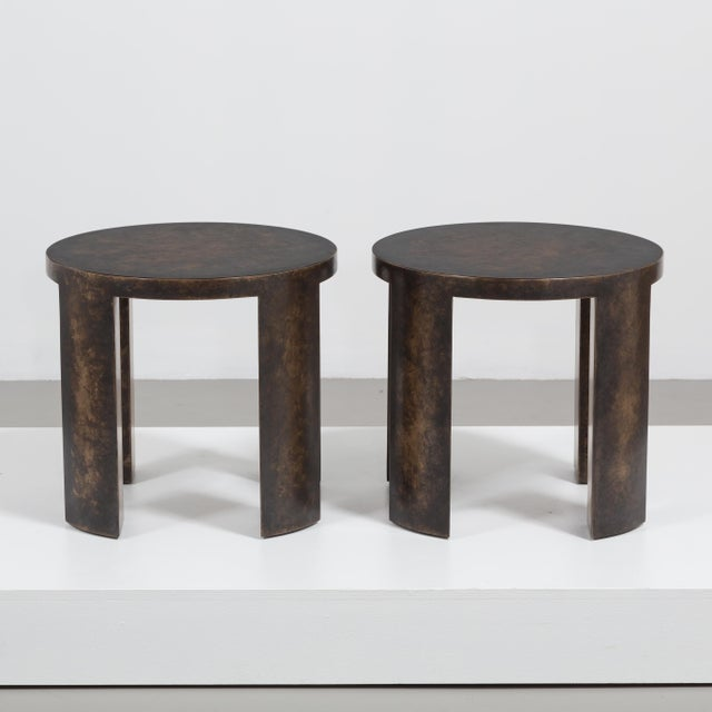 Contemporary The Circular Bronze Collection Side Tables by Talisman Bespoke For Sale - Image 3 of 7