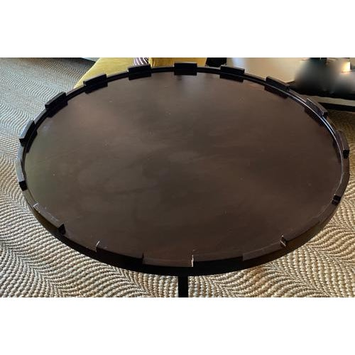 Art Deco Thomas Pheasant for Baker Mahogany Side or Low Center Table, Signed For Sale - Image 3 of 7