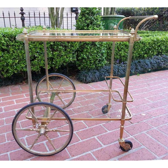 Mid-Century Modern 18th C Maison Bagues Serving Cart For Sale - Image 3 of 6