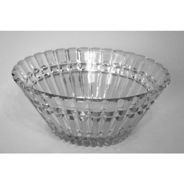 Art Deco Art Deco Oval Cut-Glass Bowl For Sale - Image 3 of 3