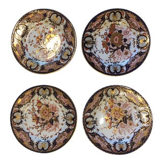 19th Century Antique Royal Crown Derby Kings Pattern Imari Plates - Set of 4 For Sale