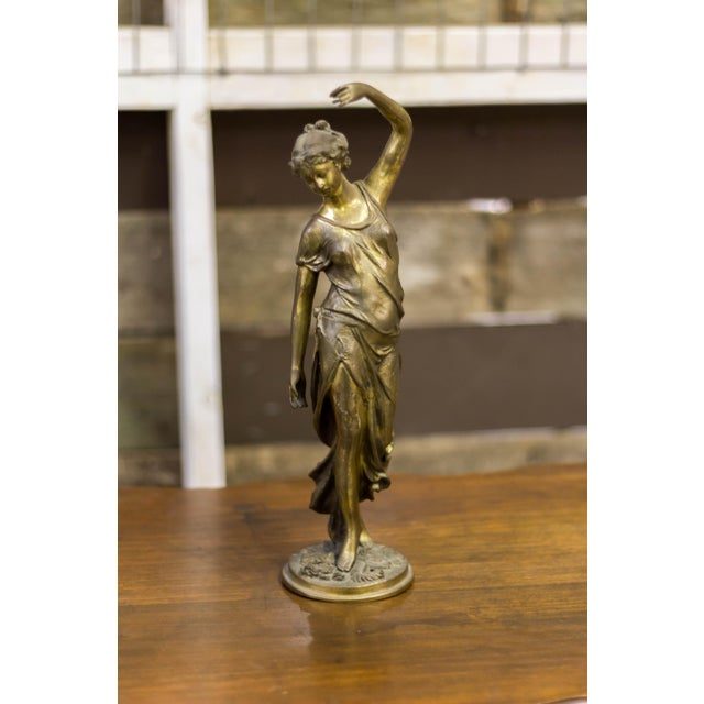 Cast Iron Female Metal Sculpture - Image 10 of 10