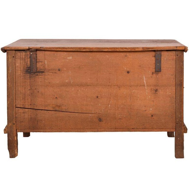 Antique English Pine Footed Chest For Sale - Image 7 of 7
