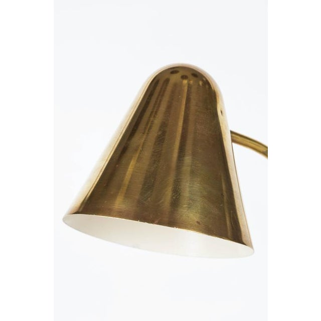 Jacques Biny 1950s Brass Table Lamp Attributed to Jacques Biny For Sale - Image 4 of 8