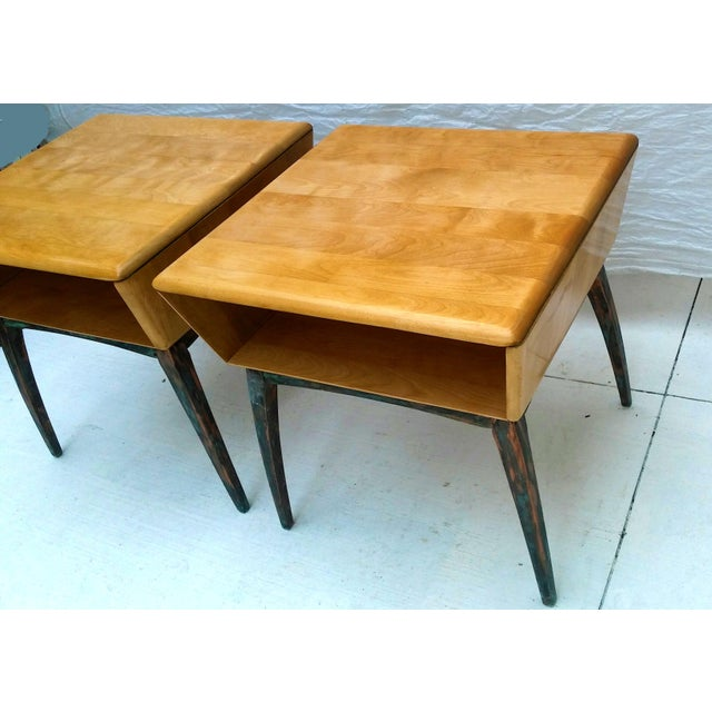 Heywood-Wakefield Side Tables - A Pair - Image 4 of 10