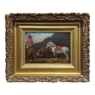 18th Century - Horse & Riders -Oil Painting For Sale