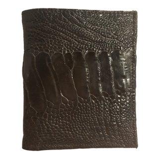 Vintage Ostrich Skin Wallet For Sale