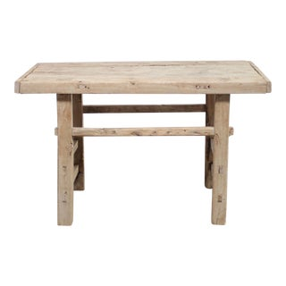 On Hold Vintage Elm Wood Console Table For Sale
