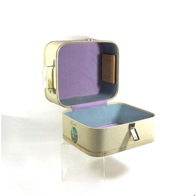 1950s Vintage Leather Hard Travel Case - Image 2 of 9