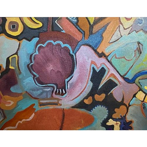 We are in love with the vibrant colors of this painting. After a moment of gazing, you see the artichoke. Titled by the...