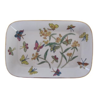 Chinoiserie Butterfly Catchall For Sale