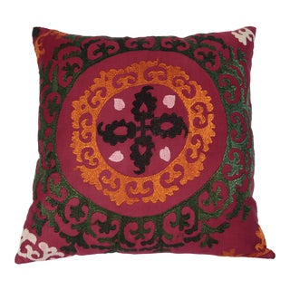 Home Sofa Decor Vintage Suzani Pillow Cases -20''x20'' Inches For Sale