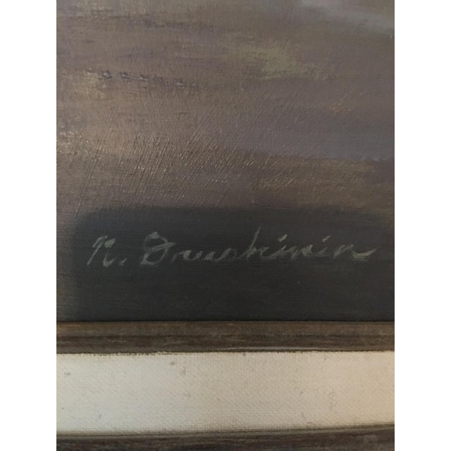 "Nathan Drushinin ""At Lovric's"" Painting - Image 3 of 4"