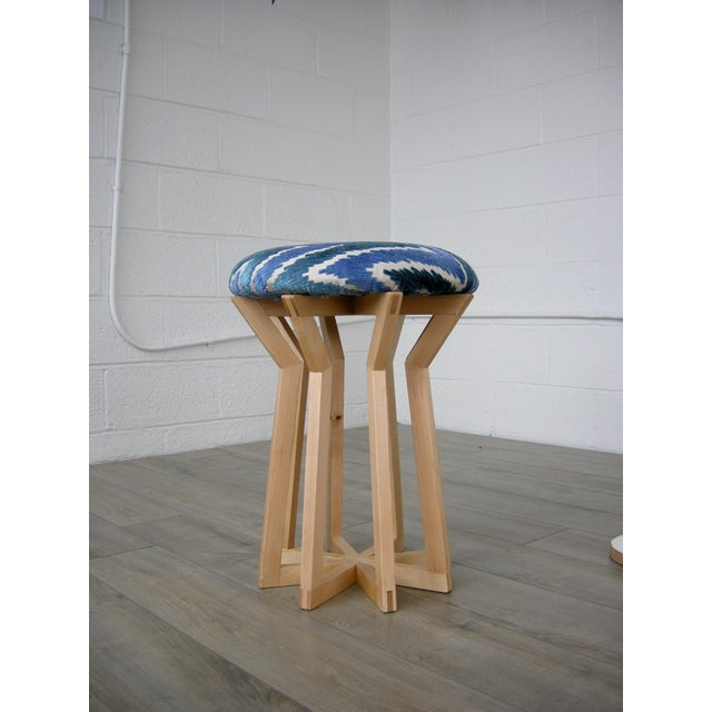 Aster Stool by Hunt & Noyer For Sale - Image 4 of 4