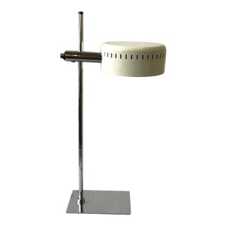1970s Robert Sonneman Chrome and Painted Metal Table Lamp For Sale