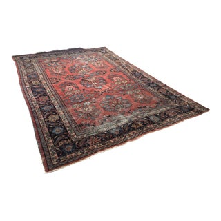 Early 20th Century Antique Persian Lillihan Rug - 8′ × 11′ For Sale