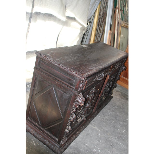 18th Century French Hand-Carved Sideboard For Sale In Atlanta - Image 6 of 8