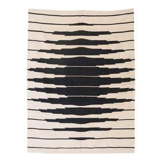 1970's Optical Art Kilim Wool Textile