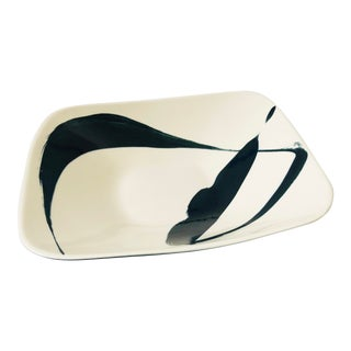 Large Abstract Handpainted Porcelain Serving Dish by Ann Mallory of California For Sale