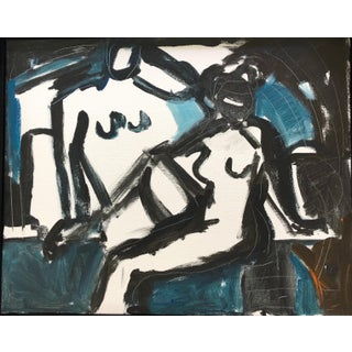 Anne Darby Parker Gestural Mood Painting For Sale