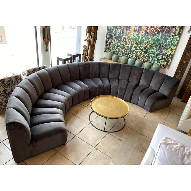 Wood Slate Gray Centipede Sofa For Sale - Image 7 of 11