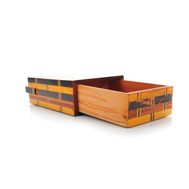 Antique Japanese Inlaid Box with Concealed Drawer - Image 7 of 9