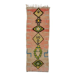 1950s Vintage Berber Moroccan Runner - 3′8″ × 8′ For Sale