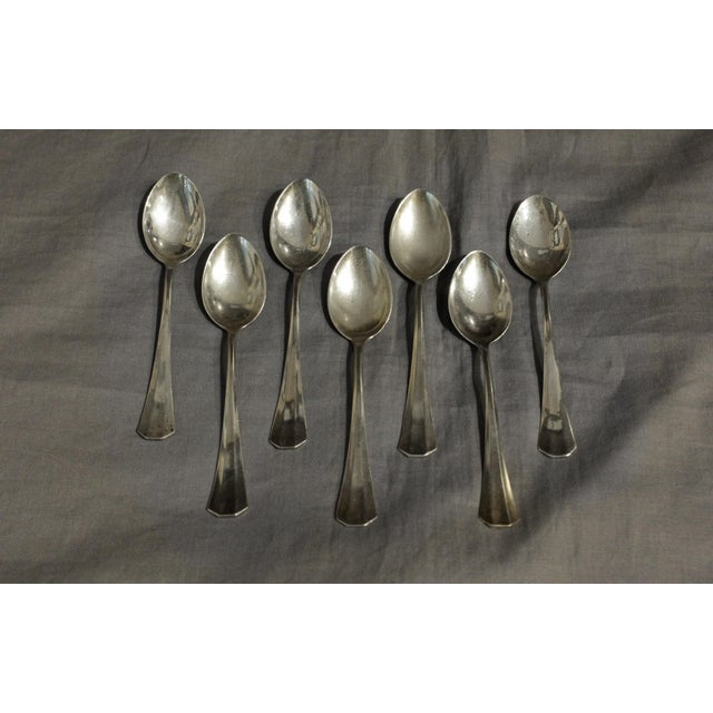 1930s Demitasse Spoons - Set of 7 For Sale - Image 5 of 5