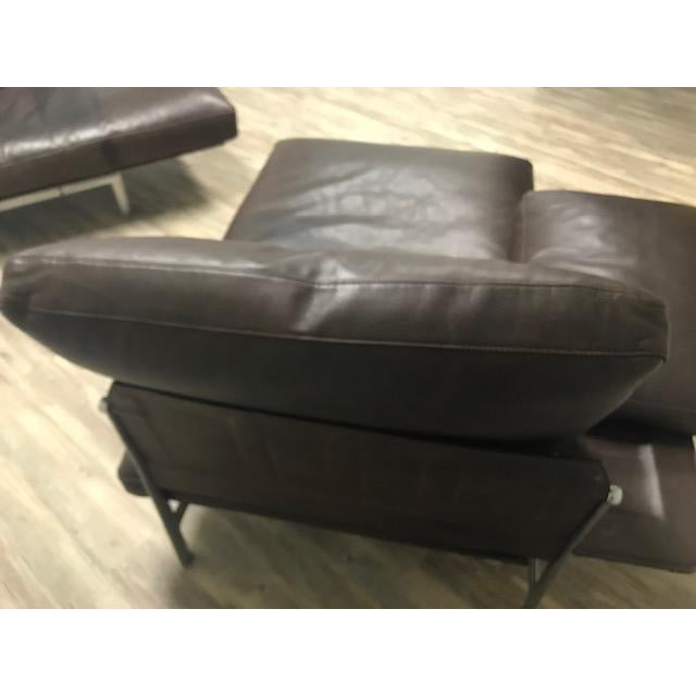 B& B Italia Bauhaus Diesis Leather Chaises - a Pair For Sale In Los Angeles - Image 6 of 9
