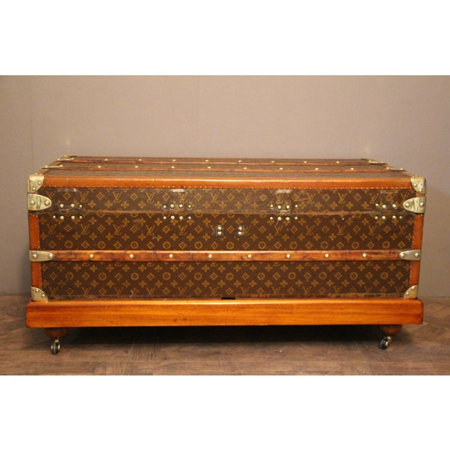 1920s Louis Vuitton Cabin Steamer Trunk For Sale - Image 9 of 13