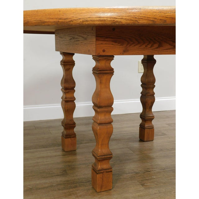 Romweber Viking Oak Round Dining Table For Sale - Image 10 of 13