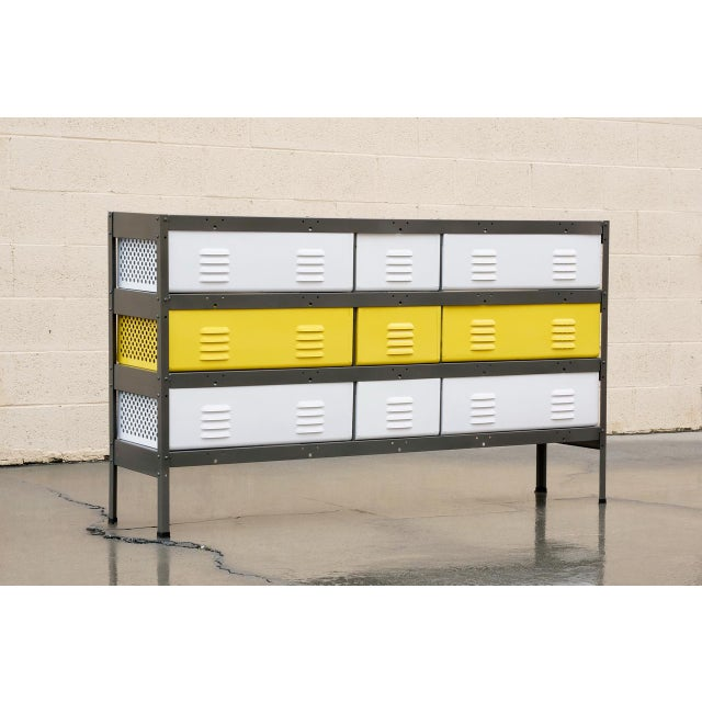 5 X 3 Locker Basket Unit With Specialty Double Wide Baskets, Custom Made to Order For Sale In Los Angeles - Image 6 of 7