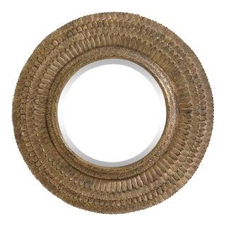 Friedman Brothers 6818 Round Gold Beveled Mirror For Sale