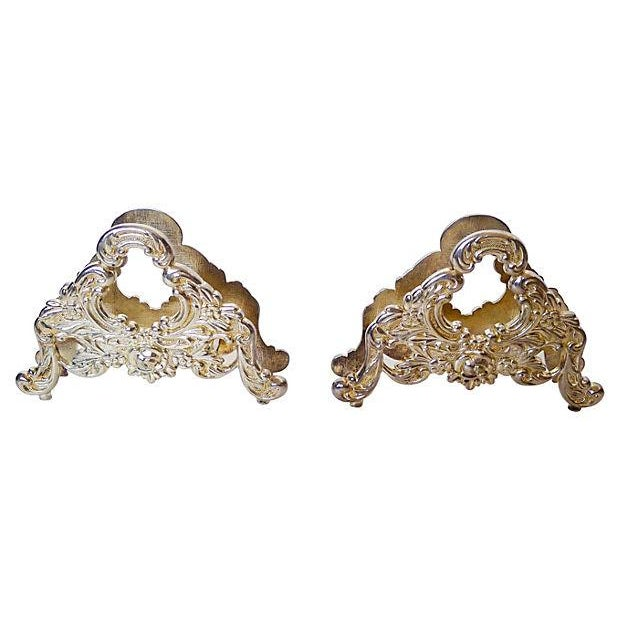 French Style Silver Plate Knife Rests - S/2 - Image 1 of 5