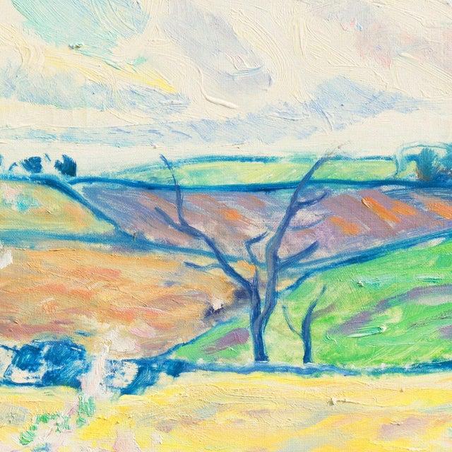 1940s 'Sunlit Spring Landscape', by Ejnar Kragh, Paris, Danish Post Impressionist For Sale - Image 5 of 10