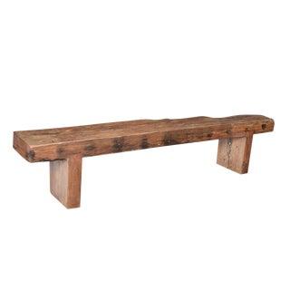 Old Teak Slab Bench