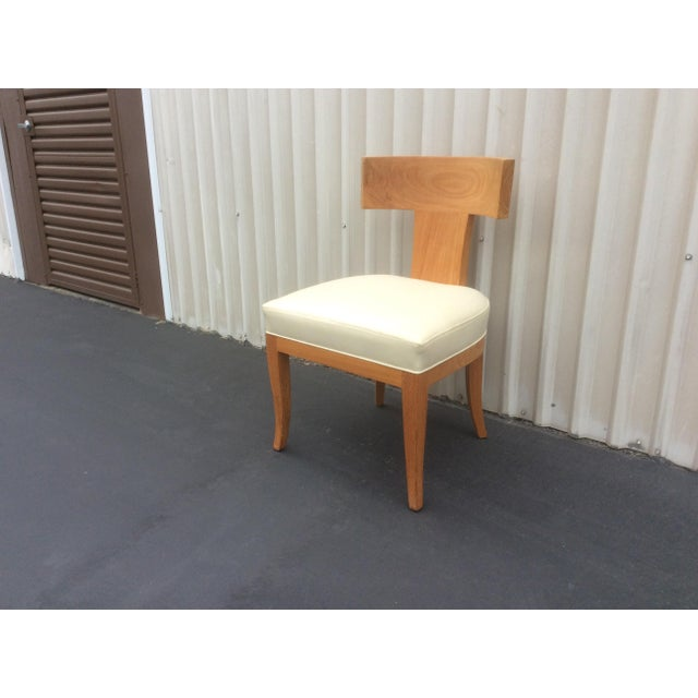 Mid Century Style Ceres Chair With Leather Seat by Ironies For Sale - Image 9 of 11