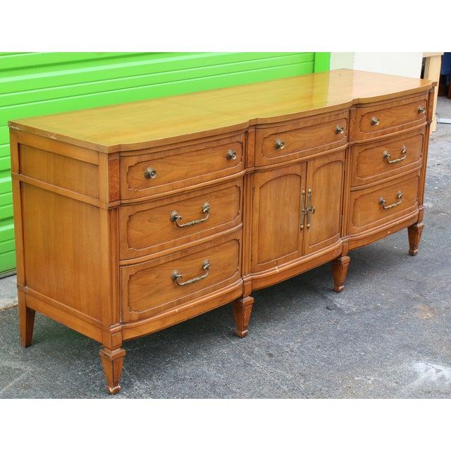 Mid-Century Walnut Dresser For Sale - Image 5 of 9