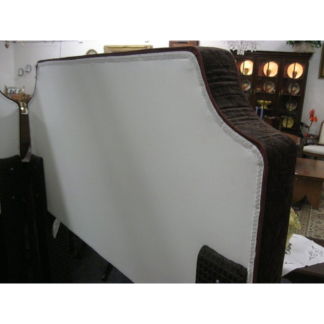 Custom Upholstered Full Size Headboards - Pair - Image 7 of 9