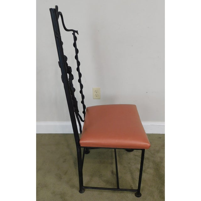 Metal j.w. Zan Hand Forged Reclaimed Iron Chair (B) For Sale - Image 7 of 12