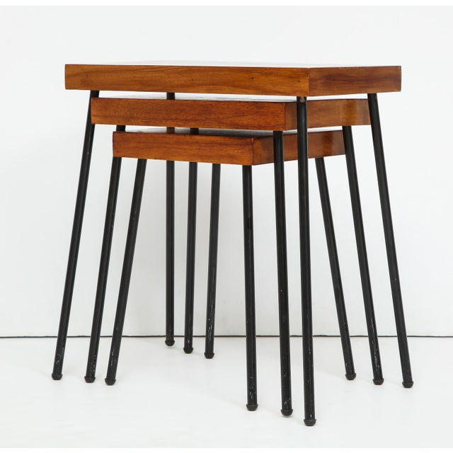 1960s David Wurster for Raymor Nest of Tables - Set of 3 For Sale In New York - Image 6 of 12