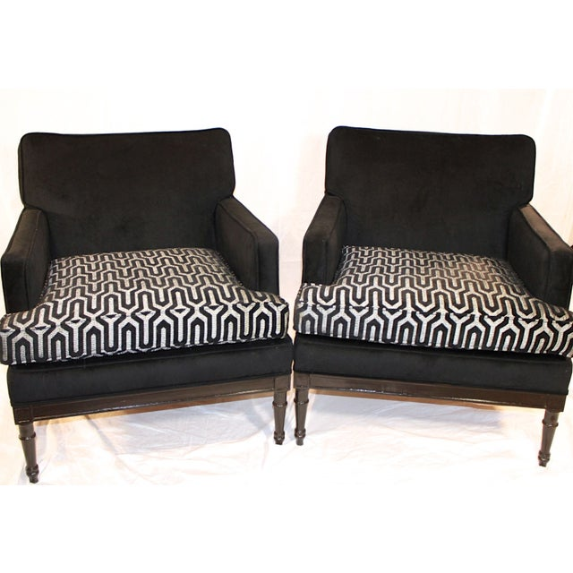 Vintage Mid-Century 1950s Club Chairs - A Pair For Sale - Image 4 of 7