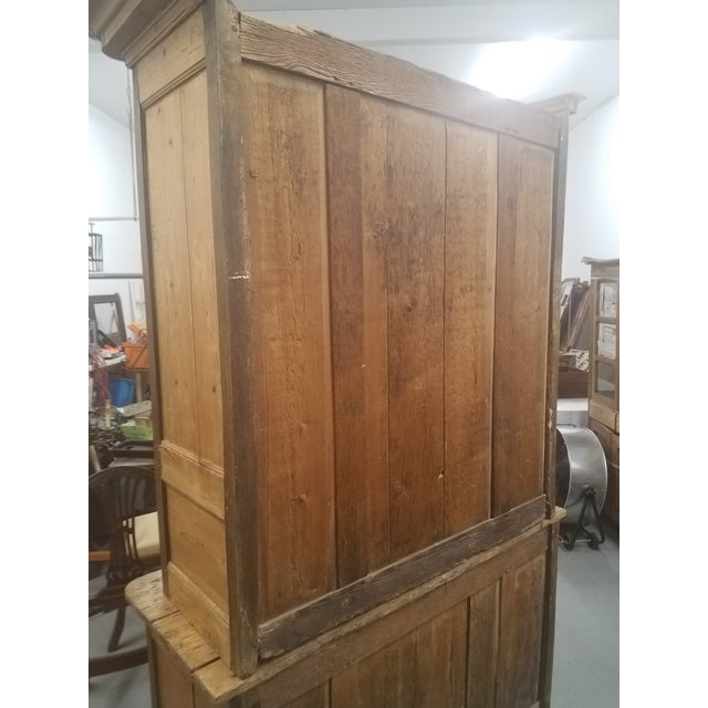 Primitive Antique Pine Cupboard - Made in France For Sale - Image 4 of 13
