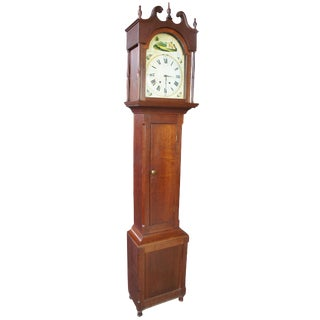 1833 Early American Antique Grandfather Clock For Sale