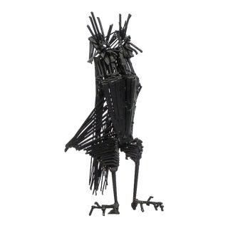 Vintage Mid-Century Brutalist Jere Style Owl Sculpture For Sale