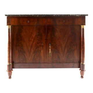 French Empire Walnut Chest