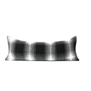 Black Buffalo Plaid Throw Pillow